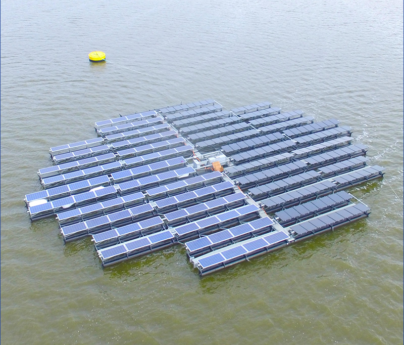 EvHb floatingsolar zonnepanelen water